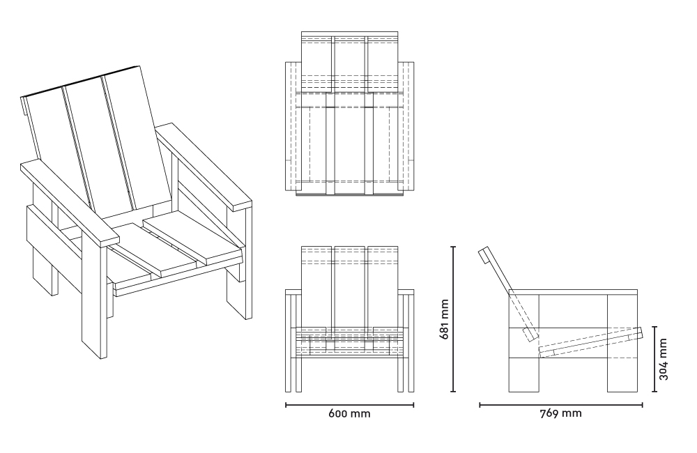 PLYWOOD CHAIRS   Philipp Mies Gerrit Rietveld Chair Plans